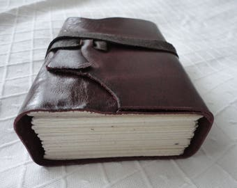 Beautiful small A7 leather notebook