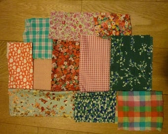 set of fabrics for patchwork 70 coupons