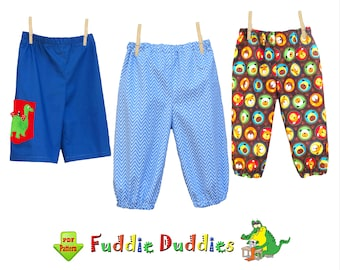 Super Quick & Easy Boys Pants Pattern. Baby Pants Pattern. Infant Pants Pattern, Boys pdf Sewing Pattern. Infant Clothing Pattern. Sammy