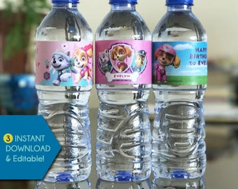 NEW! Water Bottle Labels