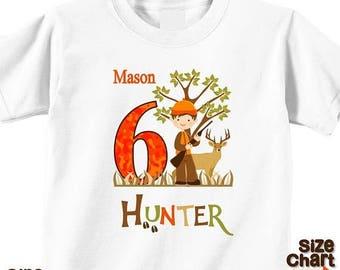 SALE Personalized Deer Hunter Hunting Season Camo Tracks Boy Birthday Party Shirt T-shirt Bodysuit Pretend Play Imagination Dress Up