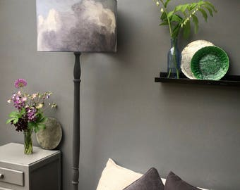 Grey cloud lampshade - Kettle of Fish Designs