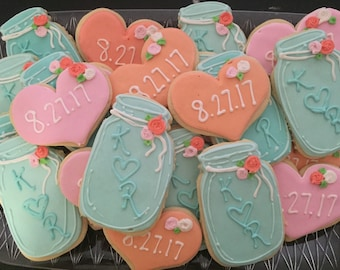 Mason Jar Wedding Cookies (2dozen)