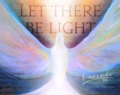 Let There Be Light Art Print | Shekhinah - Holy Spirit Wall Art | Artwork by Lucinda Rae | 8x10 print