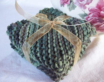 Variegated Green  Dishcloth Set