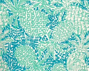 Seaside Aqua Home Slice  9 X 18 inches or 18 X 18 inches cotton dobby  ~Lilly Pulitzer~