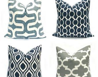 15% Off Sale Navy Pillow, Gray Pillow, Decorative Pillow, Throw pillow cover, Accent Pillow, Throw Pillows, Grey Pillow Covers, Blue Pillow