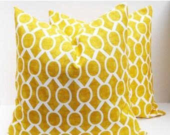 15% Off Sale Decorative pillows Yellow Pillow - Throw Pillow covers - Yellow Pillow Covers - Throw Pillows - 16x16 pillow covers - Toss pill