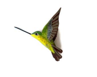 Hummingbird Art Paper machè Bird sculpture figurine Colibri