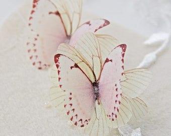 SALE Butterfly earrings, butterfly studs, bridal studs, bridal earrinfs, pink butterfly earrings, ear posts, hypoallergenic earrings, silver