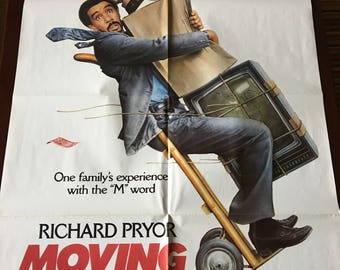 Movie poster, Moving, with Richard Pryor.
