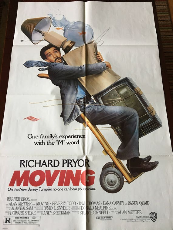 Movie Poster Moving With Richard Pryor