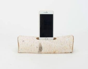 Docking Station for iPhone, iPhone dock, iPhone Charger, iPhone Charging Station, iPhone birch dock, wood iPhone dock/ Birch  - No.1014