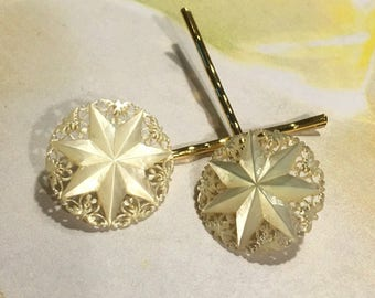 Decorative Hair Pins Jewelry Unique 1930 1940 Mother of Pearl MOP Bridal Hairpins Bobby Pins