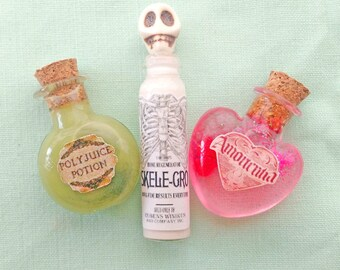 Miniature potions: Polyjuice Potion, Skele-Gro, Amortentia for blythe and 1/6 dolls - Hogwarts Harry Potter