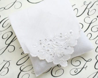 BRIDAL SACHET, French Dried Lavender Sachet with Open Embroidered Stitch, Cutwork, Bachelorette or Bridal Shower Favors, Gifts for Her
