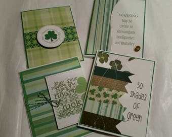 Set of 4 St Patrick's Day cards