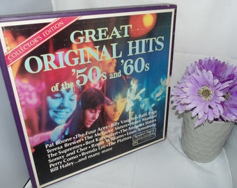 Vintage Vinyl Record 9 Lp 33 1/3 1974 Record Collection Boxed set Great Original Hits of the 50s and 60s Readers Digest RCA