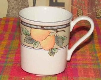 Mikasa Garden Harvest CAC29 Intaglio square mug  Malaysia Replacement  dishwasher mircrowave safe