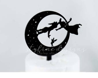 peter pan and wendy wedding cake topper pan and wendy etsy 18306