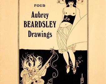 Aubrey Beardsley-Porfolio Cover-1970 Lithograph