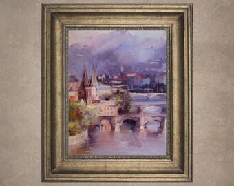 Europe Original Oil Painting by Russian Artist Nelya Shenklyarska