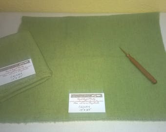 New Celery - Wool Fabric - Fat Quarter - Rug Hooking Wool - Rug Making - Rug Supplies - Doll Making