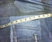 "stretch knit denim print 2.25 yards free shipping 88""L  x 60"" wide"