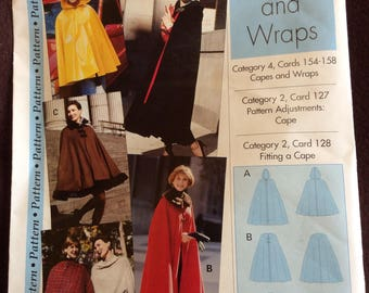 Cape pattern  poncho pattern  women's sizes 4,6,8,10, 12,14,16,18,20,& 22