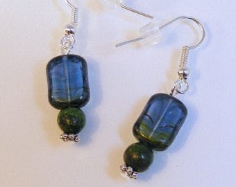Picasso Hurricane Green Earrings