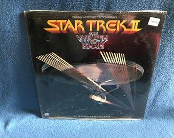 "SEALED, Rare, Vintage, ""Star Trek II: The Wrath Of Khan"" Original Score, Soundtrack, Vinyl LP, Record Album, James Horner, William Shatner"