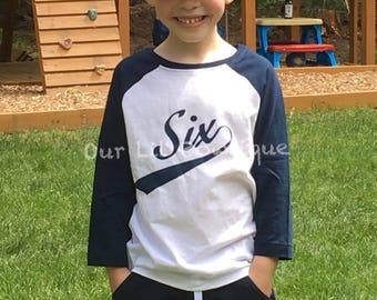 Baseball Birthday Shirt - Rookie Year Birthday Shirt - Raglan Baseball Shirt - Personalized Shirt - Baseball Birthday Shirt - Raglan