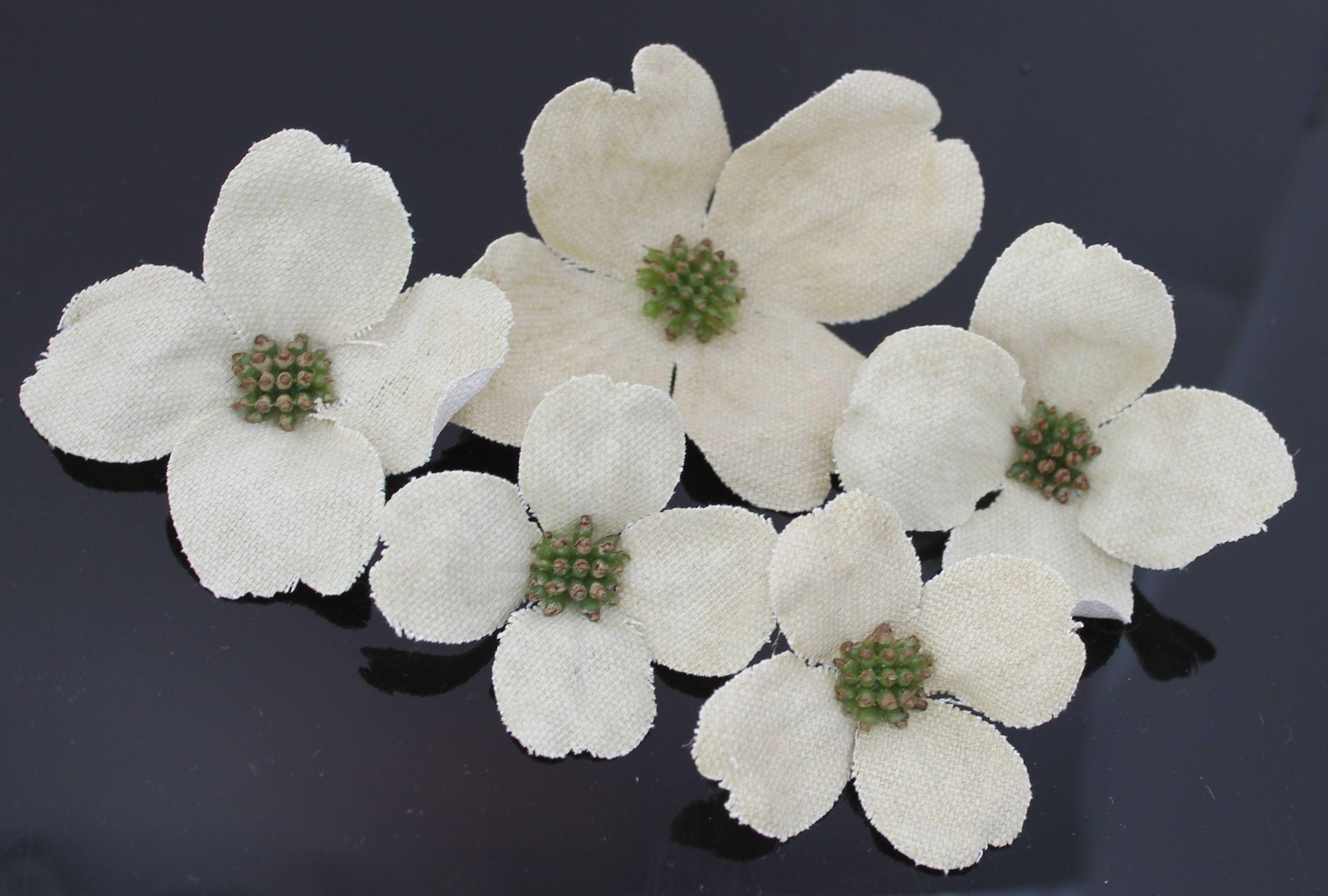Large Canvas White Dogwood Millinery Flowers Wedding Crown