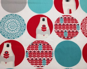 """Brrr! Polarbears (Red Dots) by Laurie Wisbrun 18"""" x 22"""""""