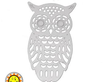 1 OWL print OWL metal stainless steel