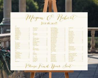 Wedding Seating Chart, Personalized Seating Chart, Printable Wedding Seating Chart, Printable Seating Chart, Seating chart Printable
