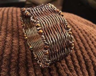 leather weaving bracelet