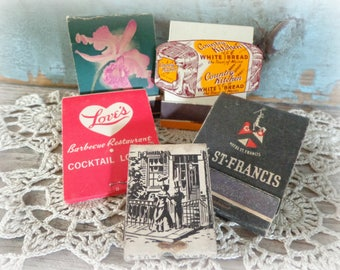 lot of 5 vintage matchbooks matchbook advertising vintage matches match covers matchbook covers