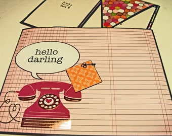 Photo Folio Scrapbook Album - Hello Darling - Scrapbook Insert or Folio