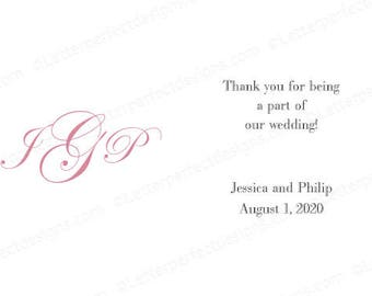 """Personalized Gratuity Vendor Tip Tipping Thank You Envelopes - """"Easy Street Monogram"""""""