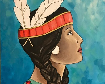 Shawnee Warrior Painting