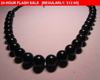 Black bead necklace, beads, hippie, boho