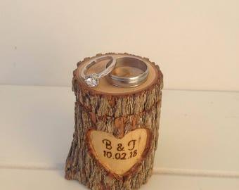 Personalized log Ring box
