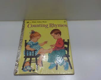 Vintage 1974, Seventh Printing, Counting Rhymes (30) A Little Golden Book