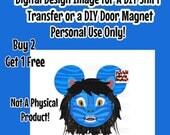 Boy Navi Mouse Head Printable Iron On Transfer Mickey Ears Mouse Head Pandora themed Shirt Transfer Matching Shirts DIY Disney Shirt