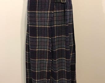 1970s wool kilt skirt