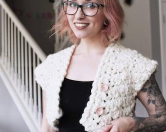 Sterling Cropped Cardi Crochet Pattern // Easy // Womens Garment // The Hook Nook