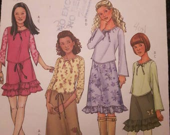 Butterick 4280, Girl's Top and Skirt Sewing Pattern