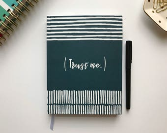Trust Me quote journal, faith sketchbook, Inspirational notebook, bible Verse, scripture Illustrated Faith, Bible Journaling Gift