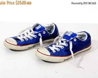 25% OFF Vintage Sneakers / Converse Sneakers /  Blue Leather Sneakers / Convers Size: US 4,5 / UK 4 / Eu 37